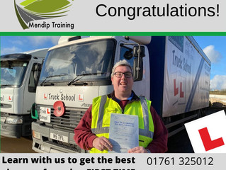 🔴 TEST PASS! 🔴  Marcus Brown passed his HGV test FIRST TIME!