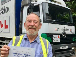 And another excellent Class 2 pass for Gordon Blakemore and Truck School
