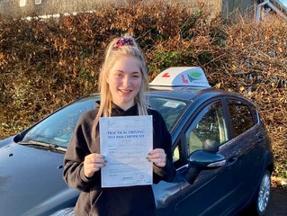 Saffron passed her Automatic driving test today