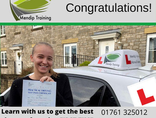 Tyler Padfield passed her driving test FIRST TIME!