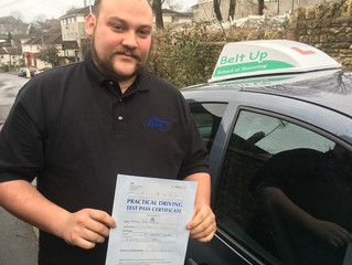 Well done to Haiden on passing his test this morning.