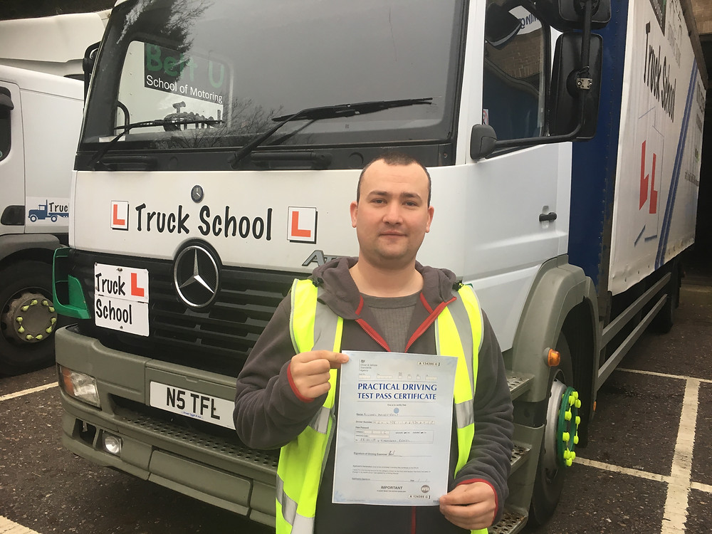 Class 2 driving test pass with Truck School