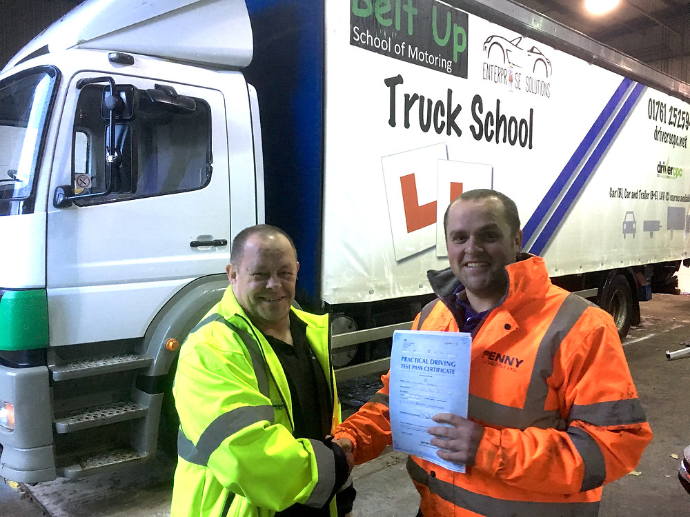 Liam Pearce passed his class 2 driving test