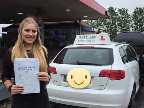 A great test pass from Belt Up School of Motoring