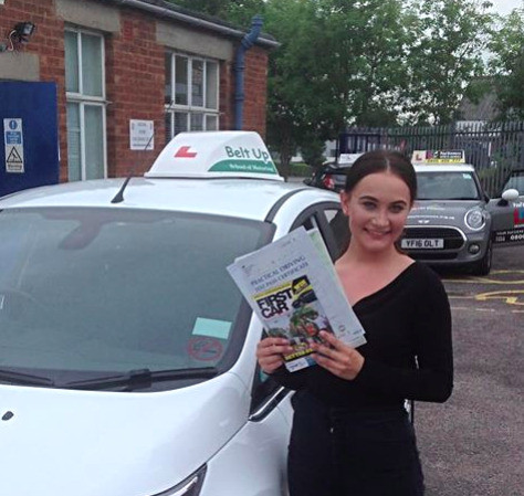 Another driving test pass from Belt Up School of Motoring