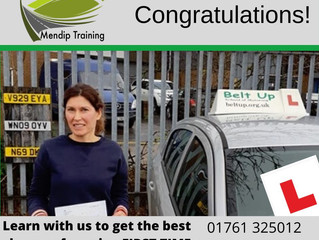 Kirsten Batho passed her driving test FIRST TIME!