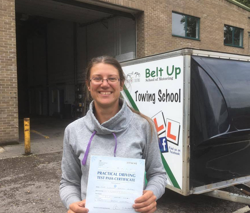 FIRST TIME car and trailer test pass with Belt up School of Motoring Ltd