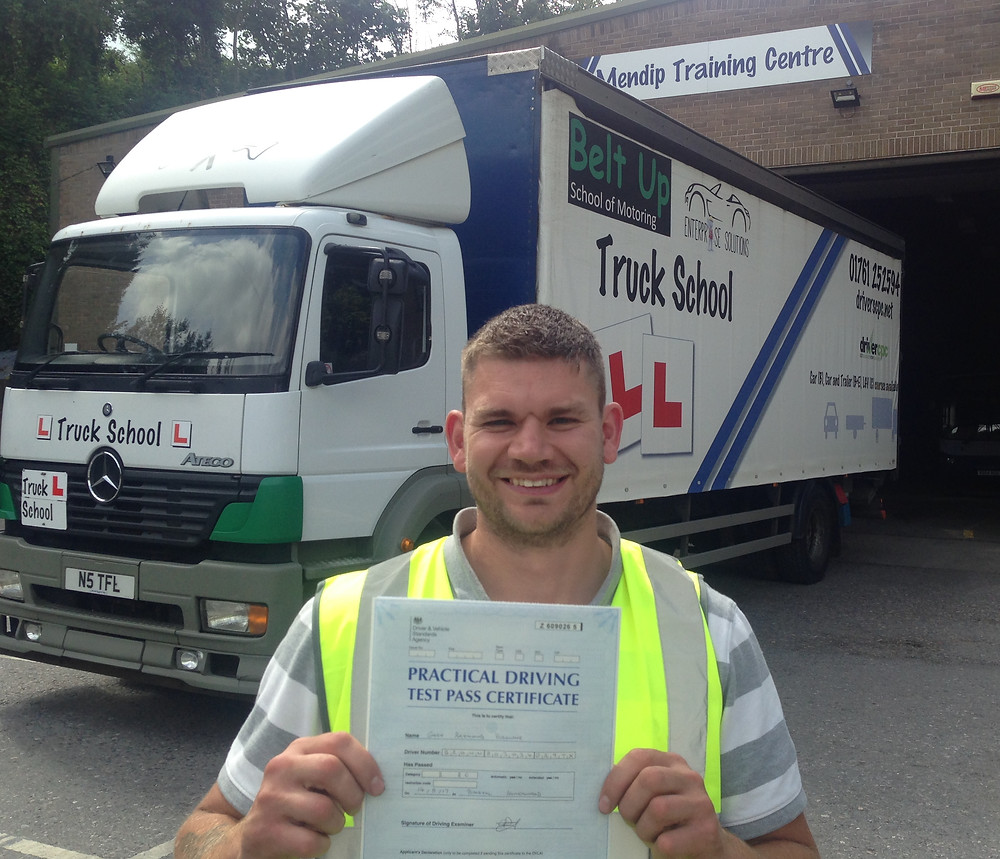 Gary passes class 2 FIRST TIME with Truck School