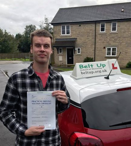 FIRST TIME test pass for Luke!!!