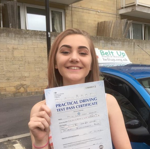 Lily passes her car test FIRST TIME with Belt Up School of Motoring