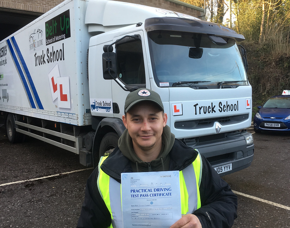 Marc Singer passes class 2 test with Truck School