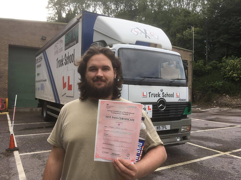 FIRST TIMEMod 4 CPC test pass with Truck School