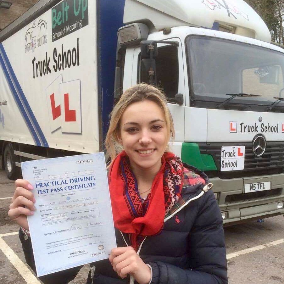 Lucy is now an HGV Driver