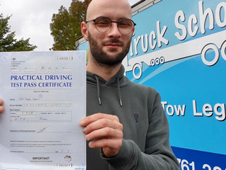 Another FIRST TIME car and trailer test pass