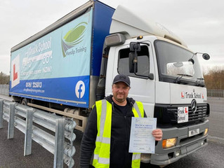 Congratulations to William Fisher for gaining his hgv licence