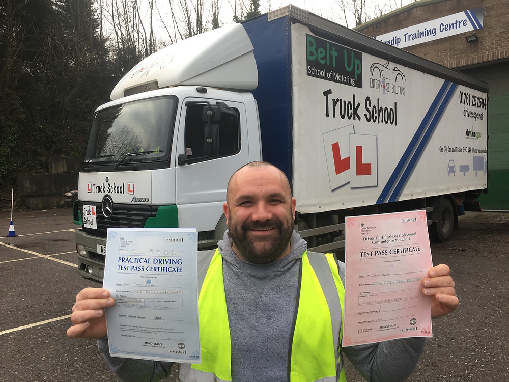 Mod 4 test pass and Class 2 test pass both FIRST TIME with Truck School