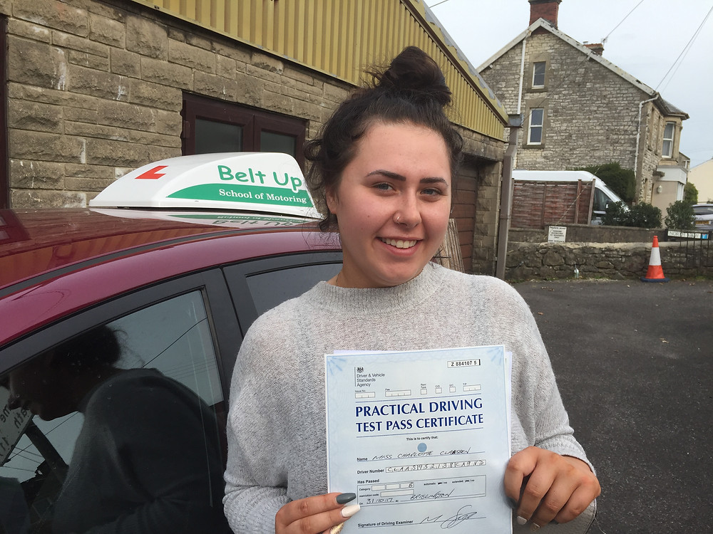 FIRST TIME test pass for Char with Belt Up School of Motoring
