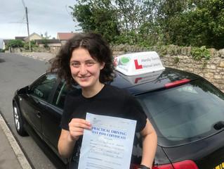 Ellena passes her car test