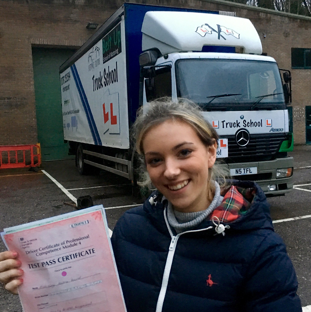 Lucy Gould and her 100% score mod 4 CPC test pass