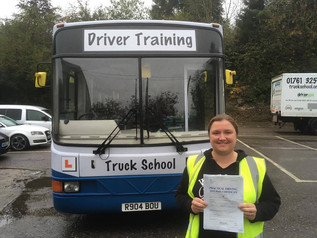 Lucy passed her bus test today!