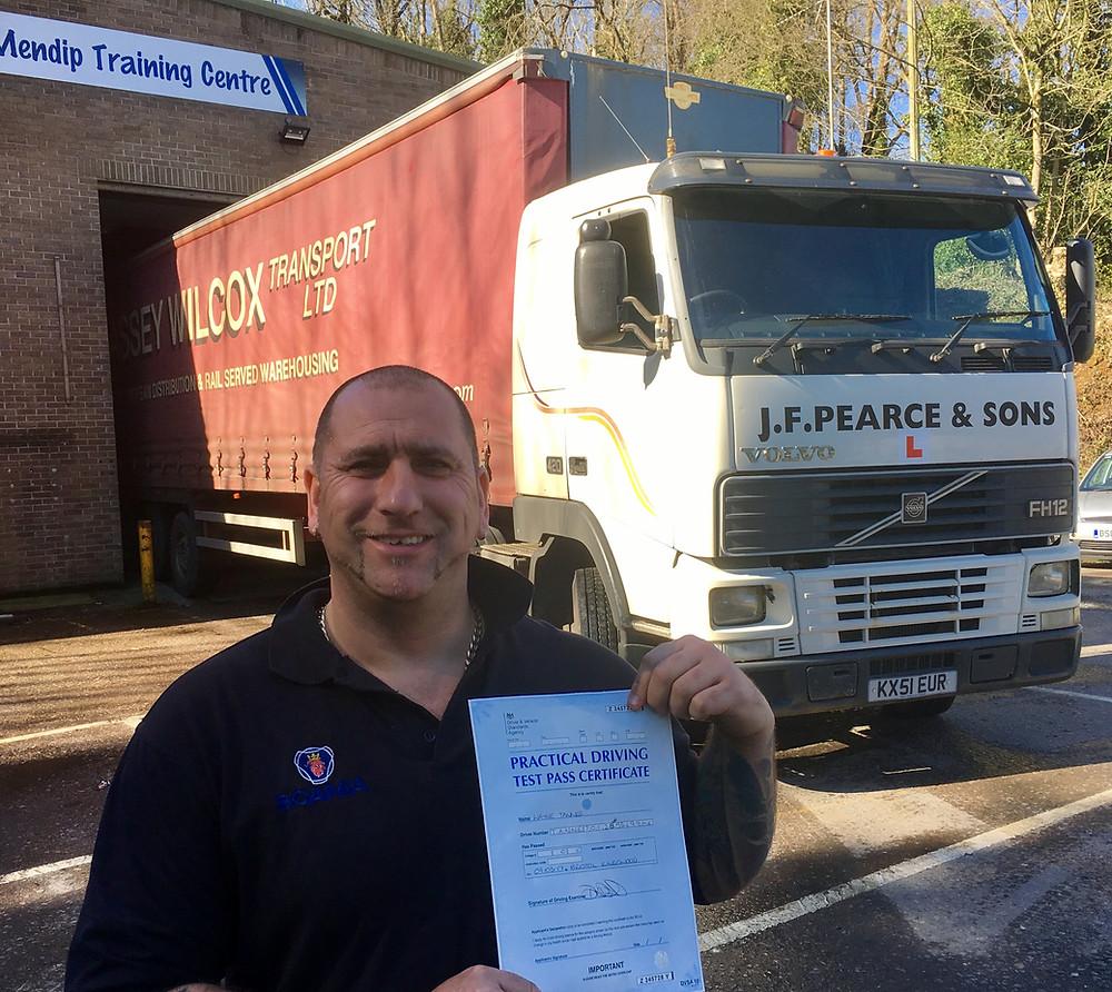 Wayne Tanner FIRST TIME Truck School class 1 pass