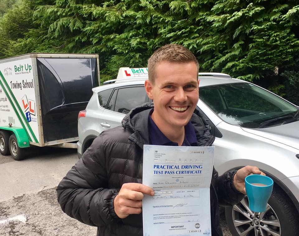 Dan Mott passes car and trailer test with Belt Up School of Motoring
