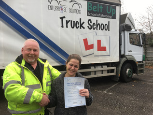 Katy passes her class 2 test with style