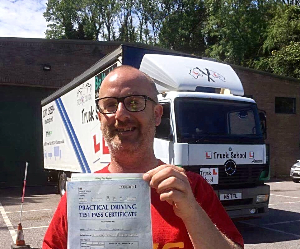 Dan passed class 2 FIRST TIME with Truck School