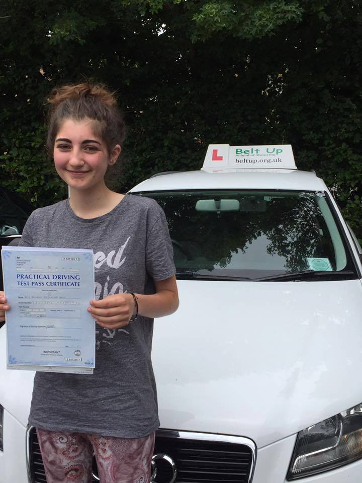 No faults on her test with Belt Up School of Motoring
