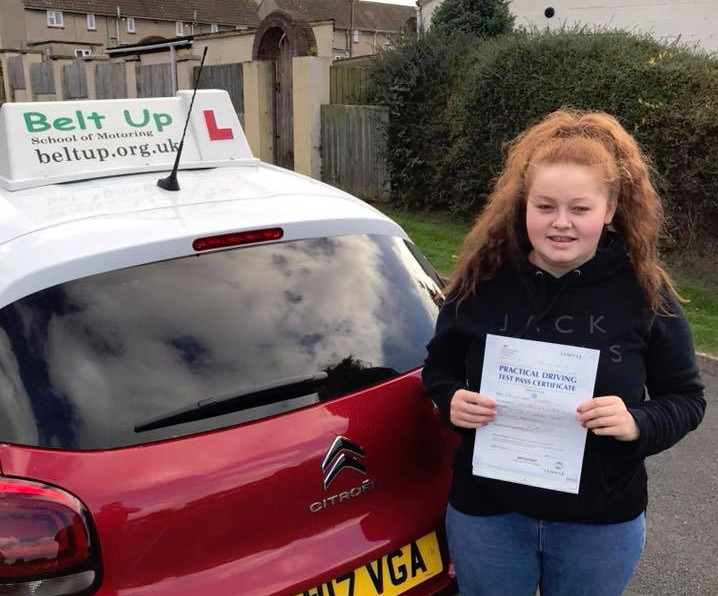 FIRST TIME driving test pass in Bristol with Belt Up School of Motoring