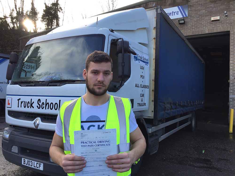 Neil passed class 2 FIRST TIME with Truck School