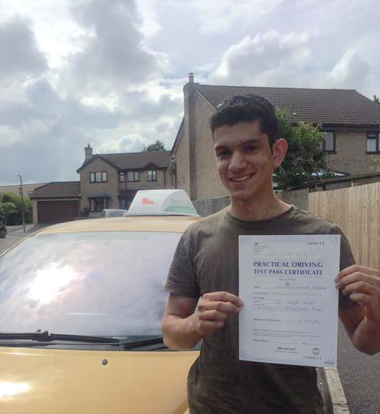 A FIRST TIME car driving test pass with Belt Up School of Motoring