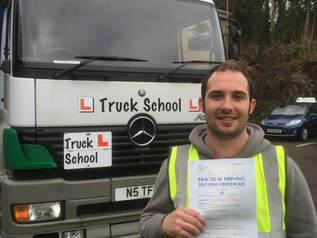 Ashley Pulsford passes his class 2 test FIRST TIME
