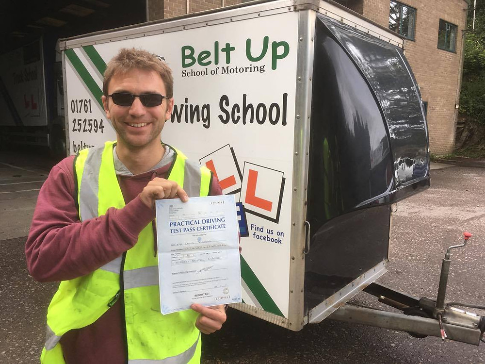Car and trailer test pass with Belt Up School of Motoring