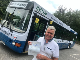 Kelvin Parfitt took and passed his cat D test today at the FIRST TIME attempt!