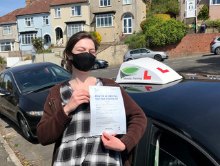 Well done Becka for passing your driving test!