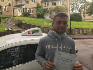 Brandon Passes his driving test.