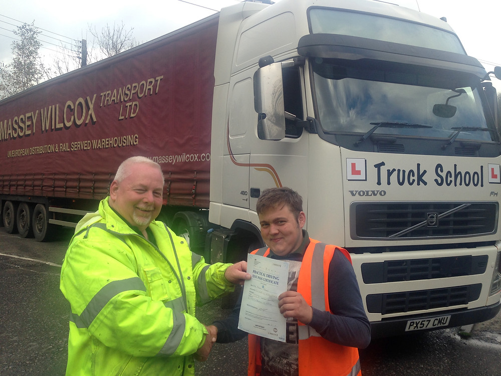 Aaron passes class 1 FIRST TIME with Truck School