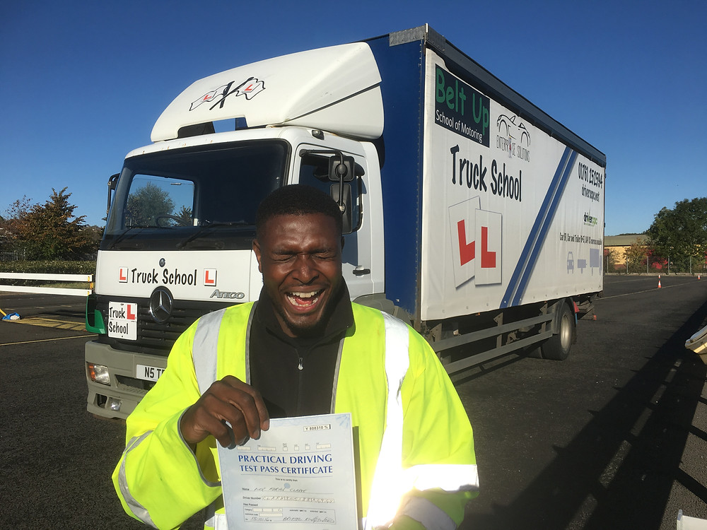 Adrian Clark FIRST TIME HGV test pass
