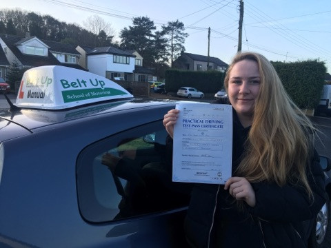 Abby passes FIRST TIME with Belt Up School of Motoring