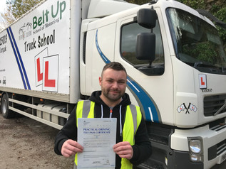 Danny Rammond took and passed his class 2 test today!
