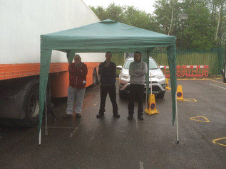 A week of lorry training in the rain