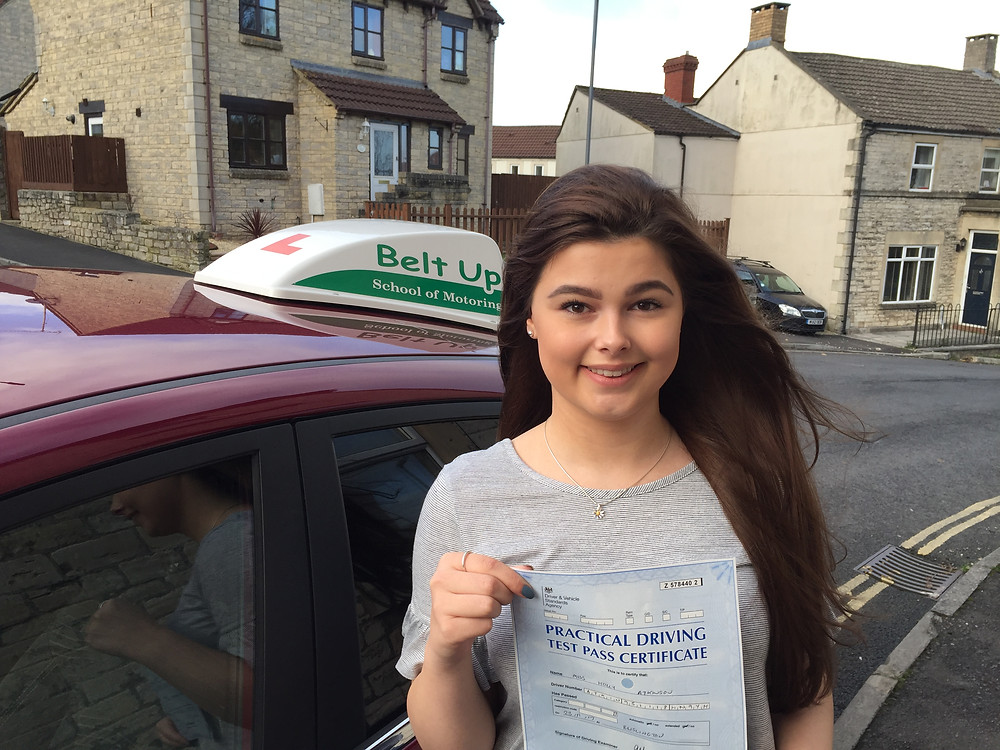 Holly Atkinson passes her driving test.
