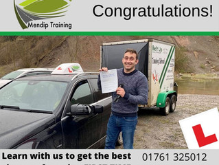 🔴 TEST PASS! 🔴  Lee Cornish passed his car and trailer test FIRST TIME!