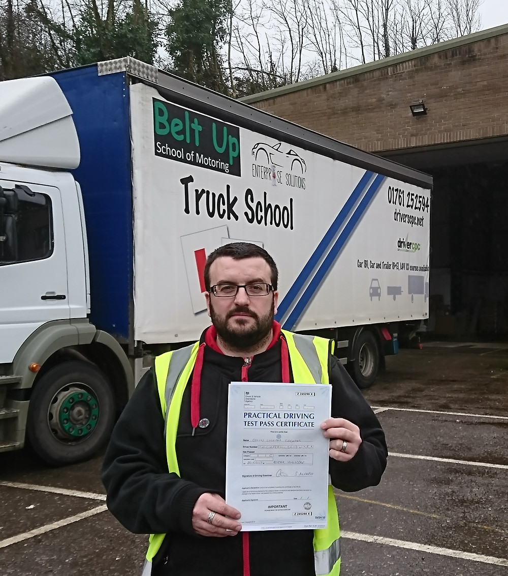 Colin passes his class 2 with Truck School, FIRST TIME