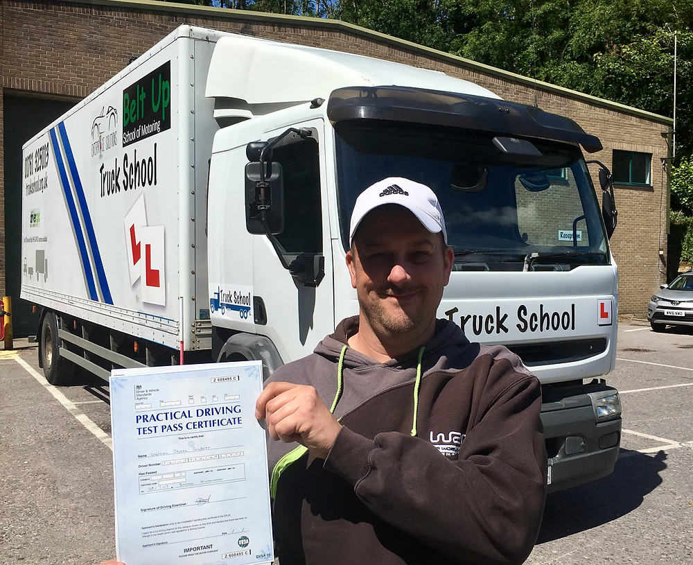 FIRST TIME HGV class 2 test pass with Truck School