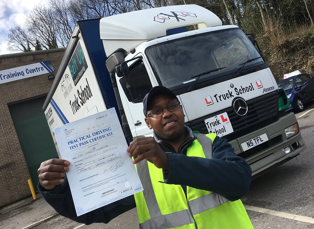Francis passes his HGV class 2 first time with Truck school.
