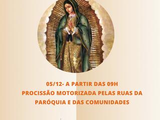 Procissão Motorizada com Imagem de Guadalupe