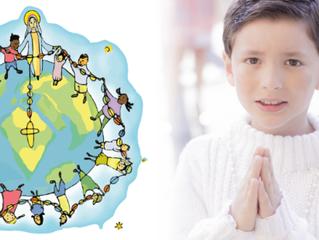 Nesta sexta, 18/10: um milhão de crianças rezando o terço pela paz no mundo!