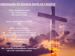 Programação Semana Santa na Catedral